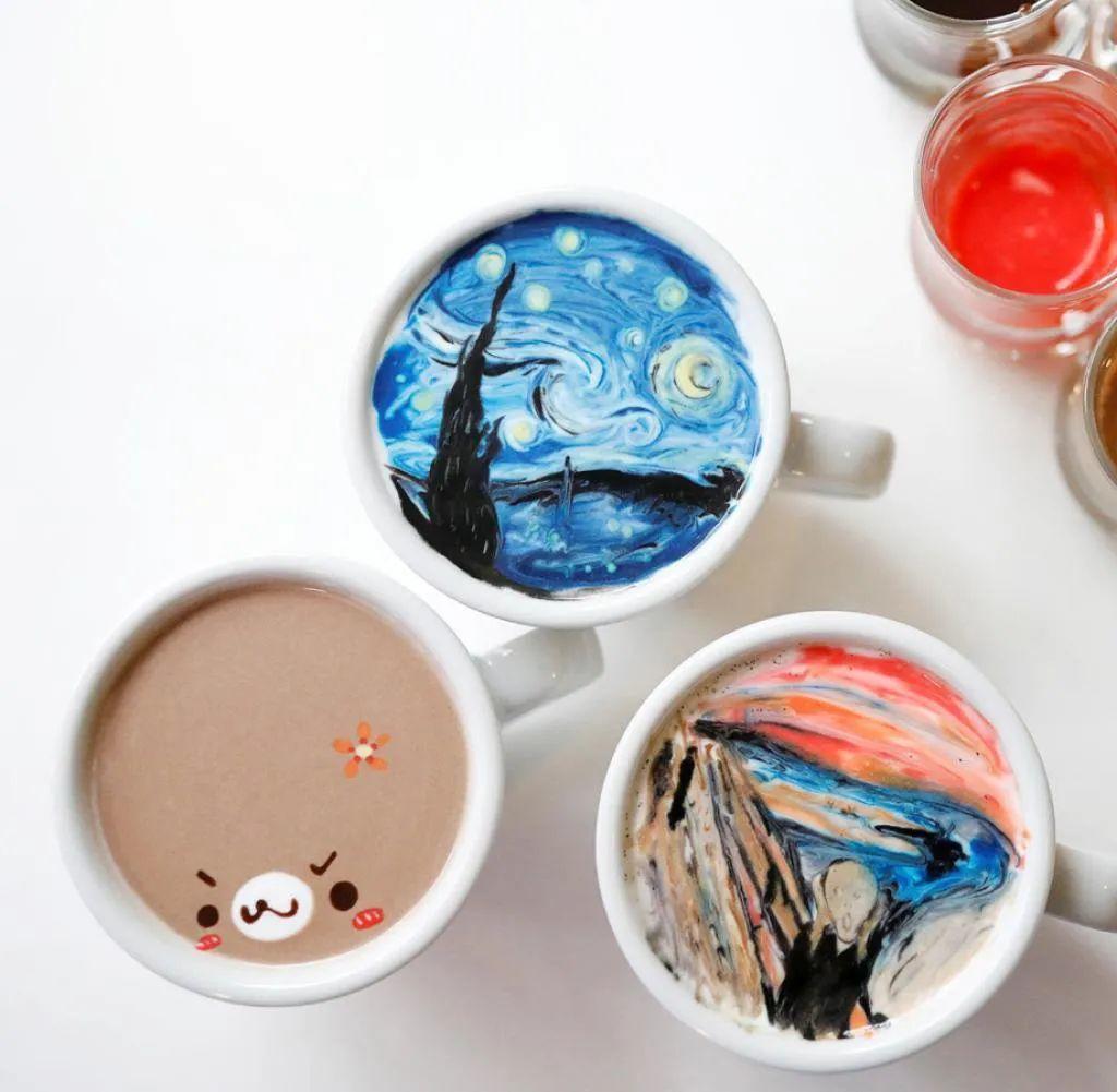 咖啡上的名画,你还舍得喝?插图5