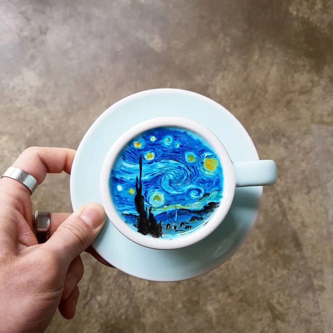 咖啡上的名画,你还舍得喝?插图9