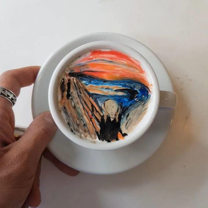咖啡上的名画,你还舍得喝?插图23