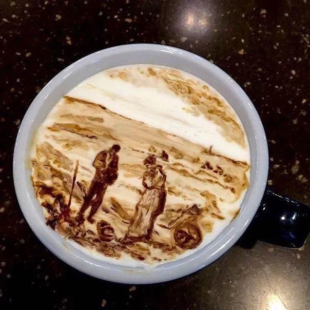 咖啡上的名画,你还舍得喝?插图43