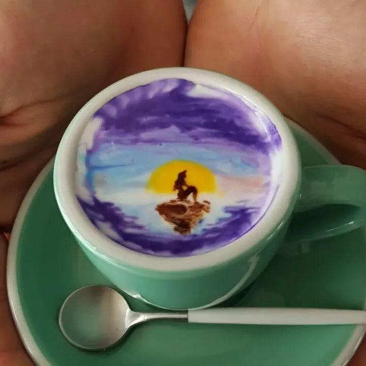 咖啡上的名画,你还舍得喝?插图47