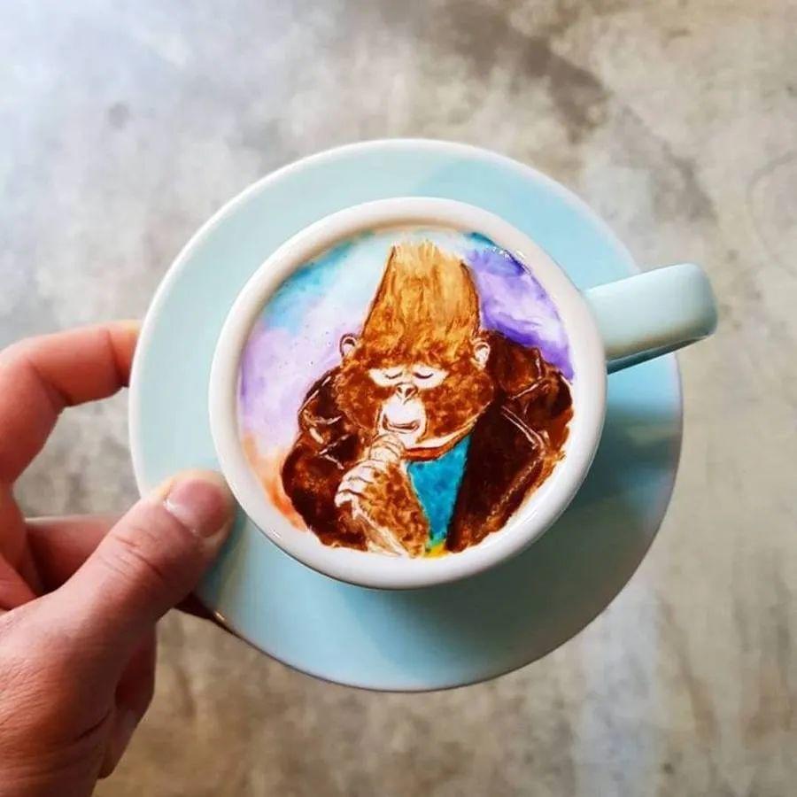 咖啡上的名画,你还舍得喝?插图57