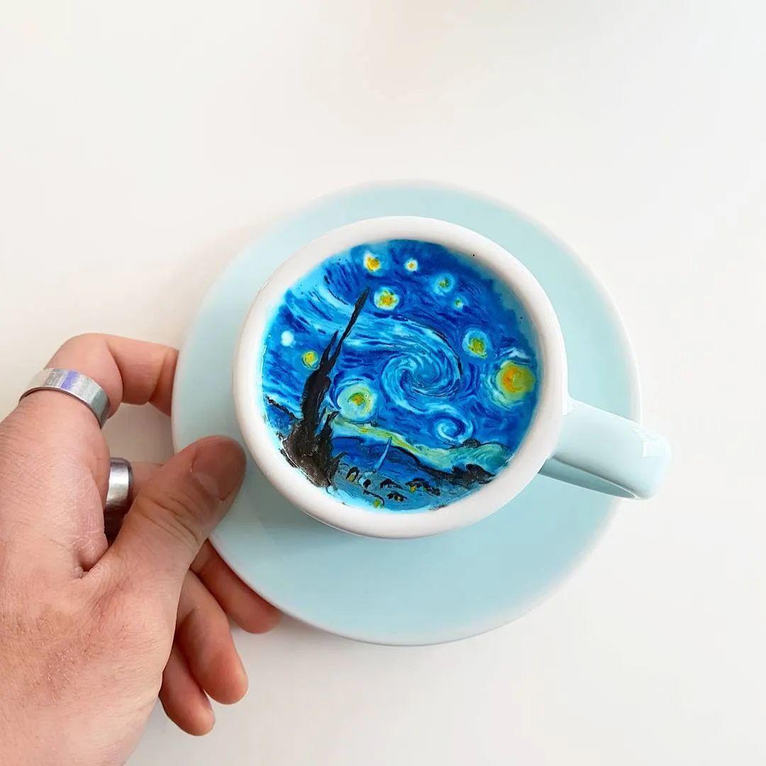咖啡上的名画,你还舍得喝?插图81