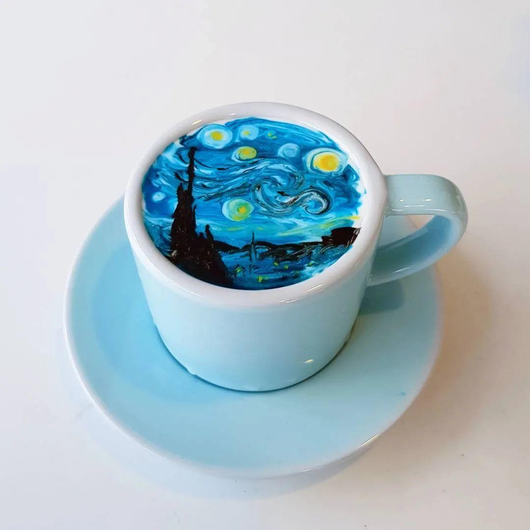 咖啡上的名画,你还舍得喝?插图83