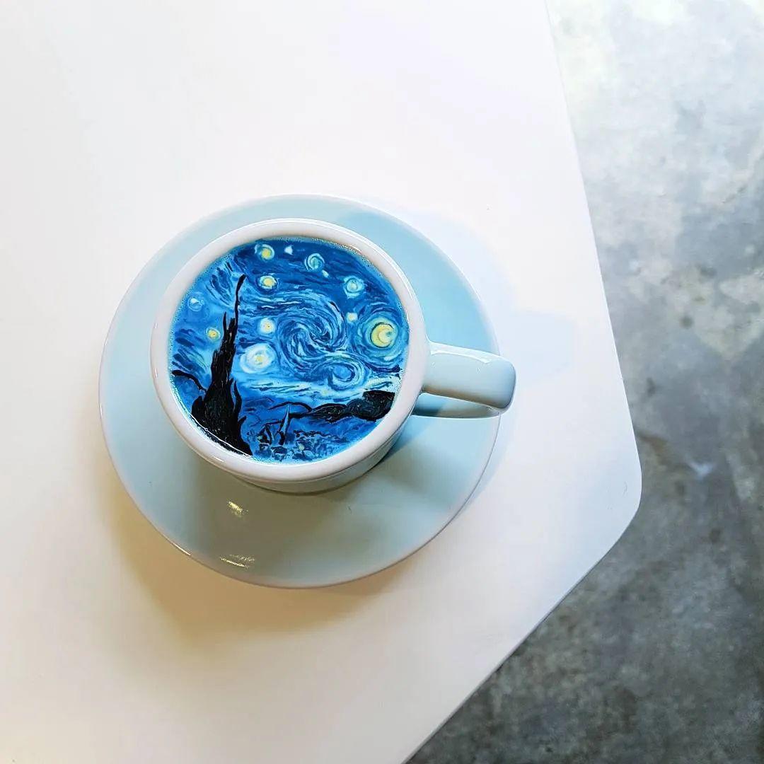 咖啡上的名画,你还舍得喝?插图85