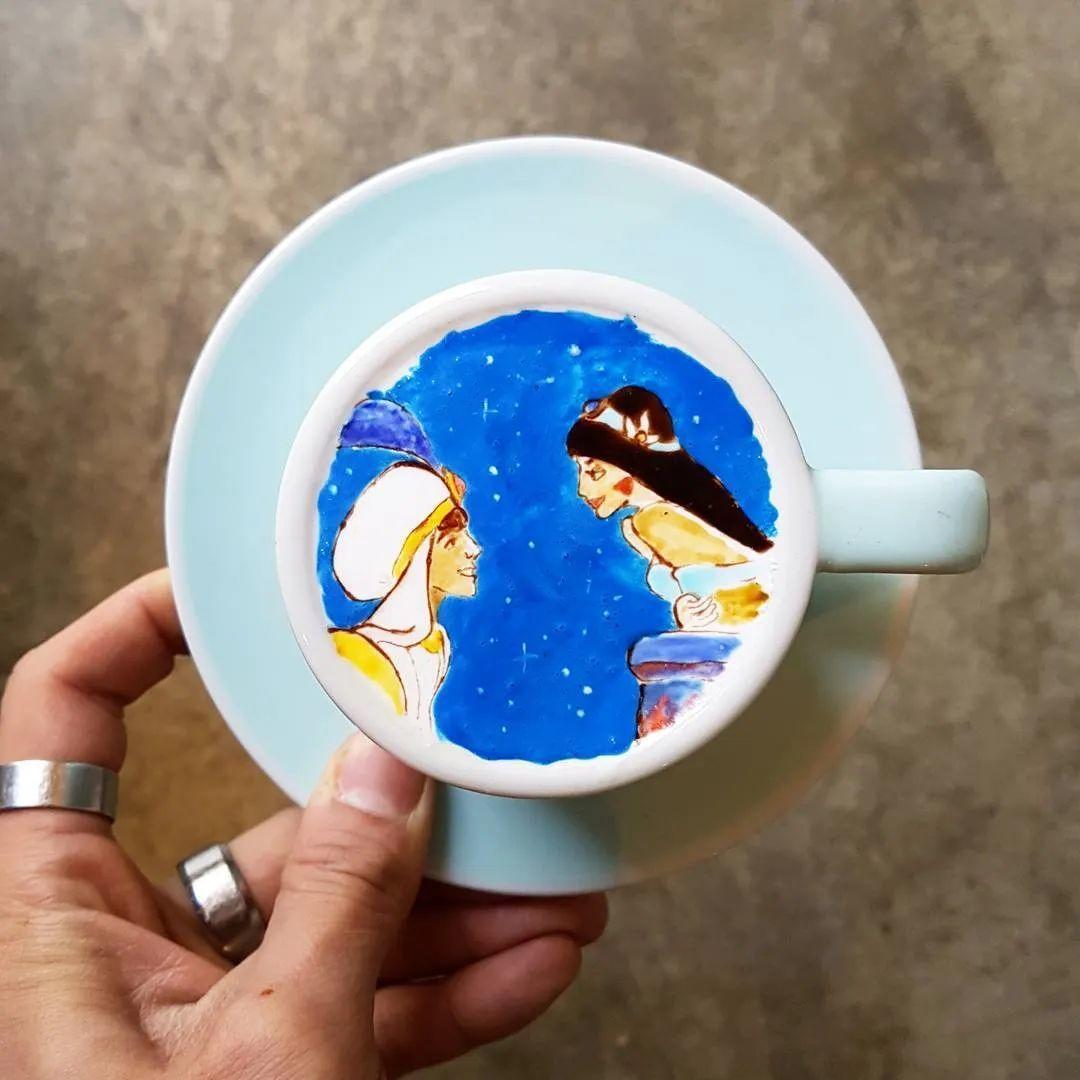 咖啡上的名画,你还舍得喝?插图89