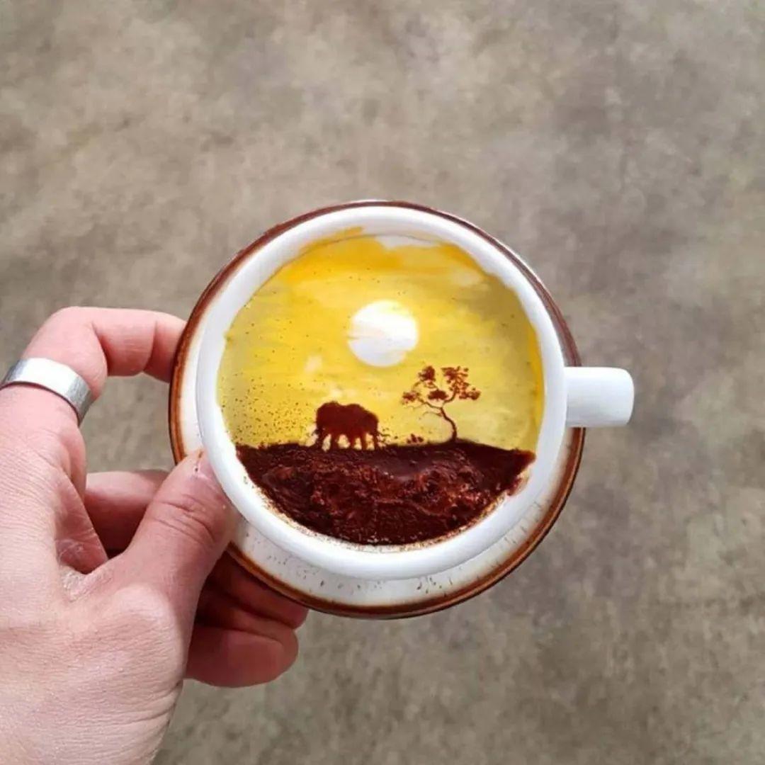咖啡上的名画,你还舍得喝?插图99