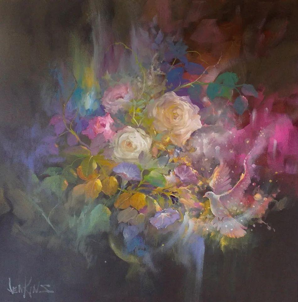 这对老夫妇教授绘画40多年,画的花也太漂亮了!插图3