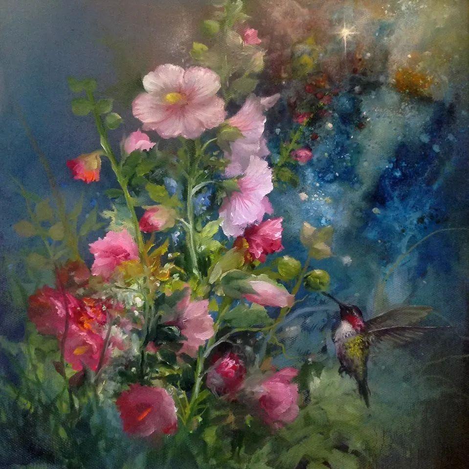 这对老夫妇教授绘画40多年,画的花也太漂亮了!插图4