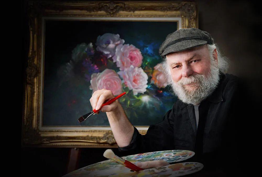 这对老夫妇教授绘画40多年,画的花也太漂亮了!插图5