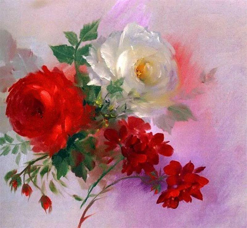 这对老夫妇教授绘画40多年,画的花也太漂亮了!插图7