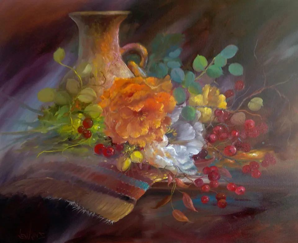 这对老夫妇教授绘画40多年,画的花也太漂亮了!插图8