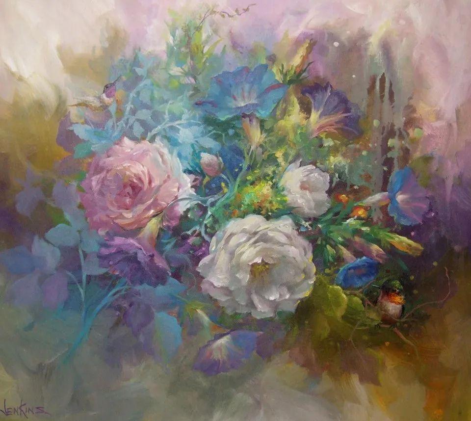 这对老夫妇教授绘画40多年,画的花也太漂亮了!插图9