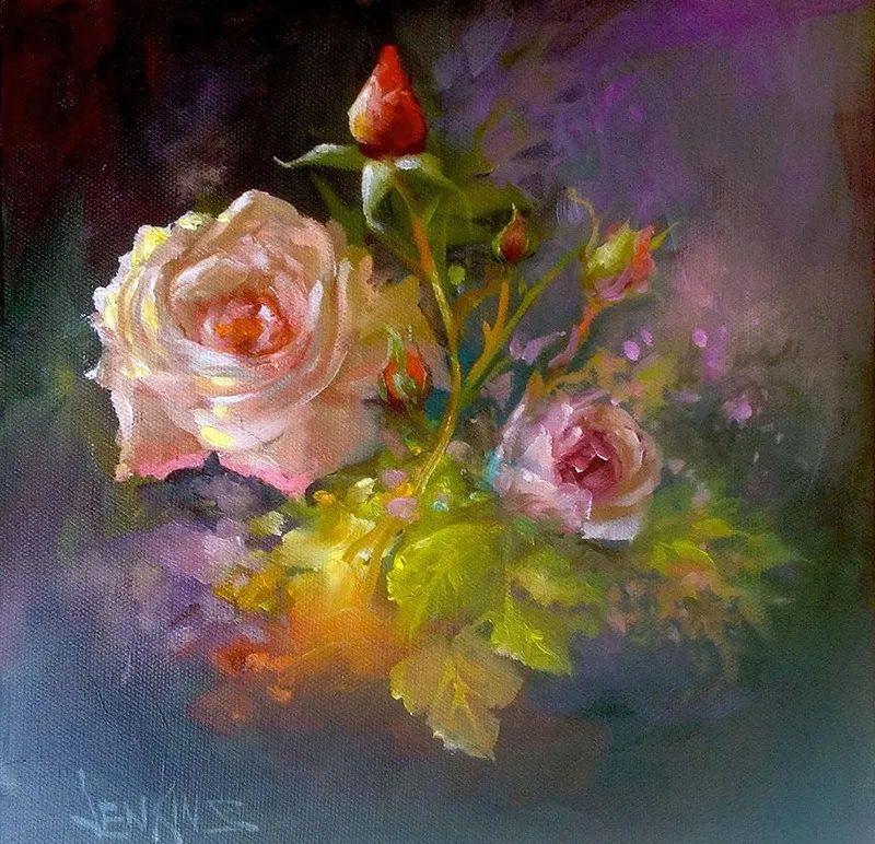 这对老夫妇教授绘画40多年,画的花也太漂亮了!插图10