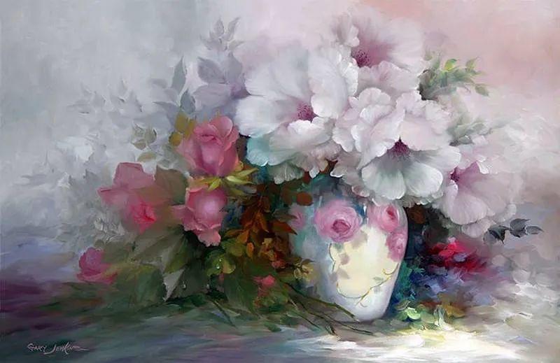 这对老夫妇教授绘画40多年,画的花也太漂亮了!插图11