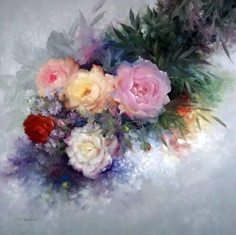 这对老夫妇教授绘画40多年,画的花也太漂亮了!插图12