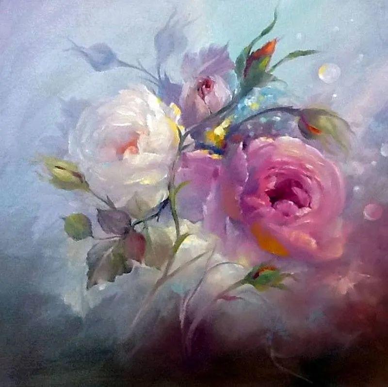 这对老夫妇教授绘画40多年,画的花也太漂亮了!插图13
