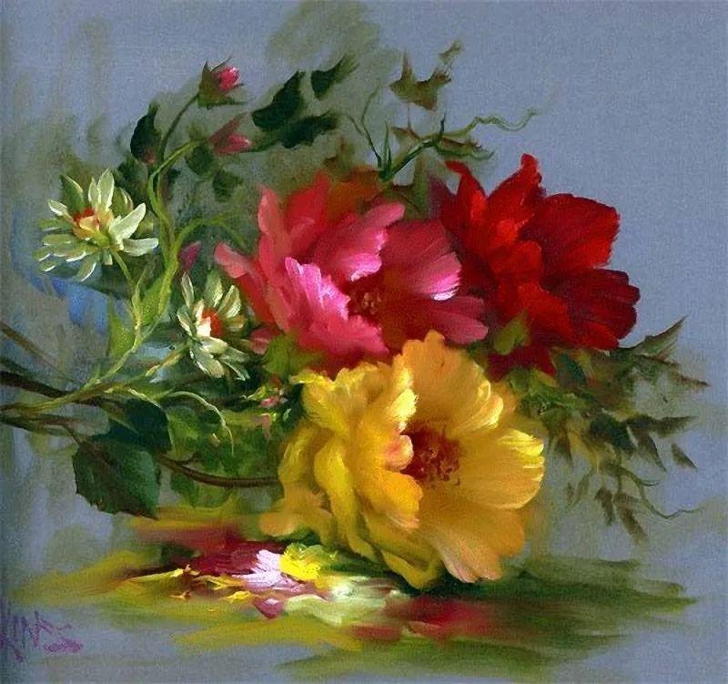 这对老夫妇教授绘画40多年,画的花也太漂亮了!插图14