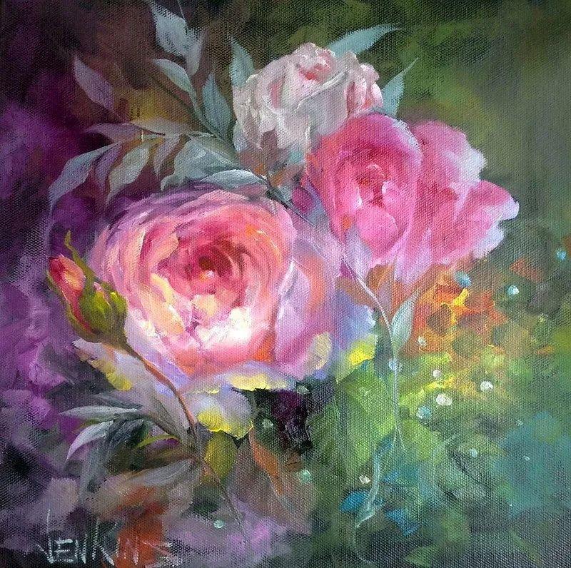 这对老夫妇教授绘画40多年,画的花也太漂亮了!插图15