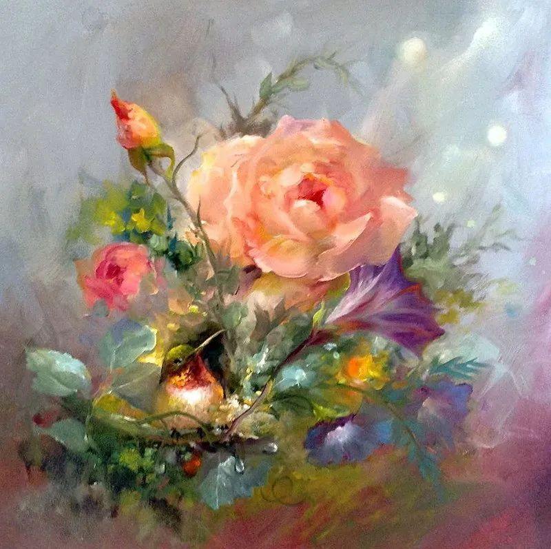这对老夫妇教授绘画40多年,画的花也太漂亮了!插图16