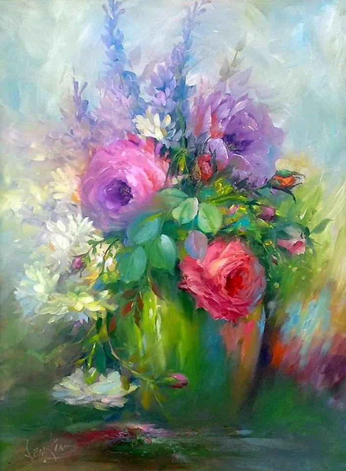 这对老夫妇教授绘画40多年,画的花也太漂亮了!插图17