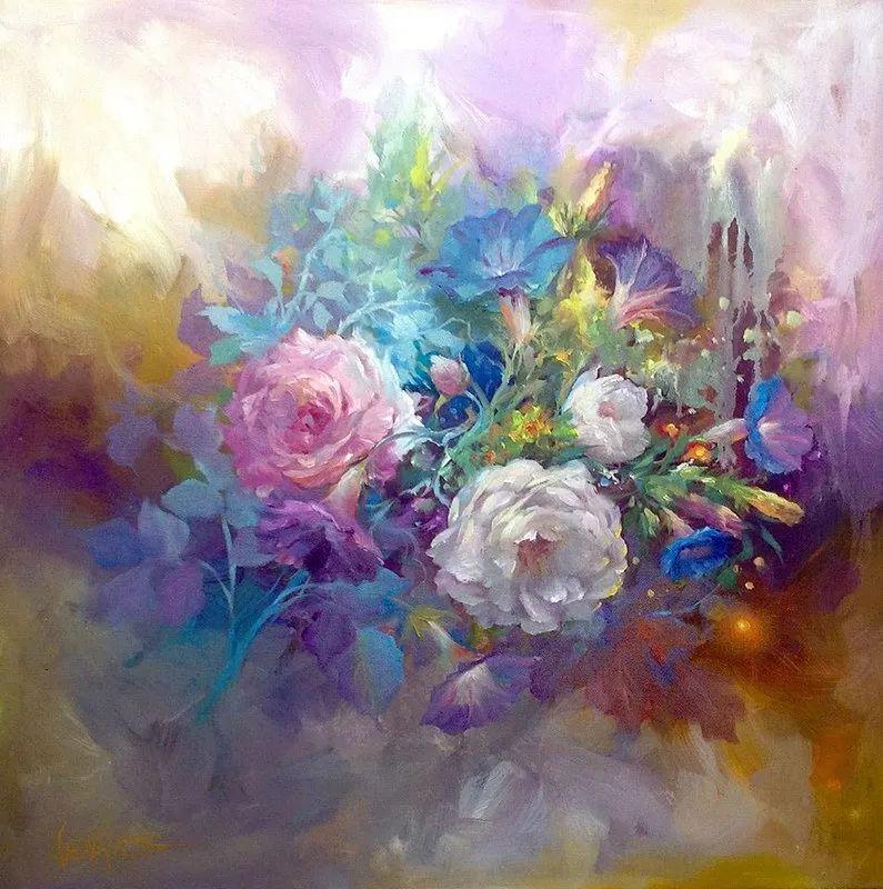 这对老夫妇教授绘画40多年,画的花也太漂亮了!插图18