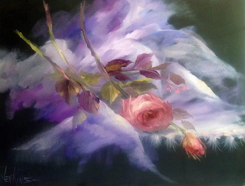 这对老夫妇教授绘画40多年,画的花也太漂亮了!插图19