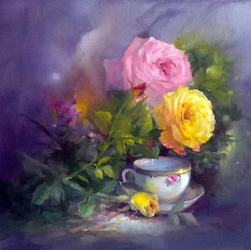 这对老夫妇教授绘画40多年,画的花也太漂亮了!插图20