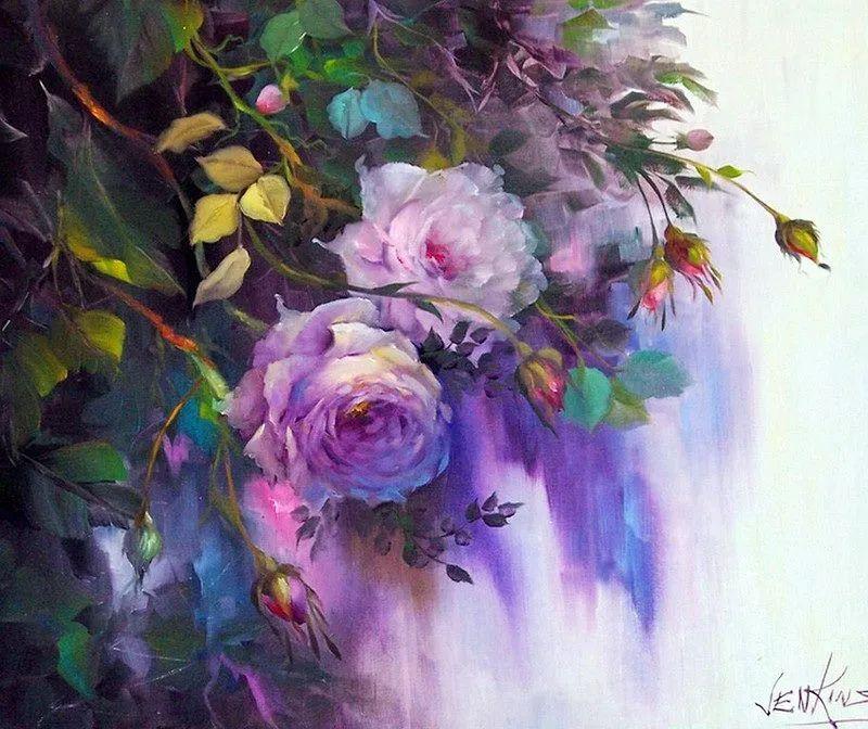 这对老夫妇教授绘画40多年,画的花也太漂亮了!插图21