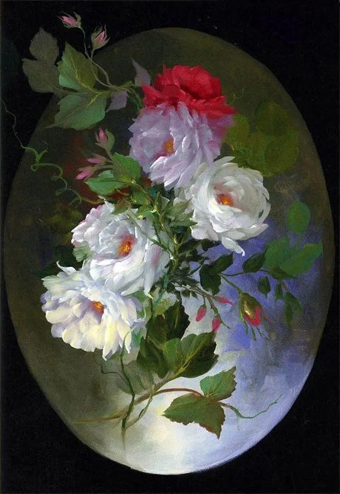 这对老夫妇教授绘画40多年,画的花也太漂亮了!插图22