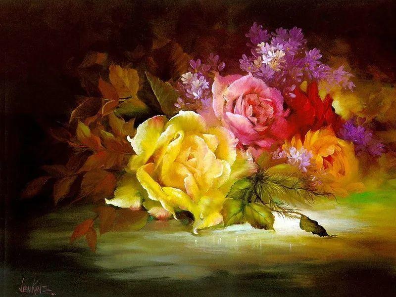 这对老夫妇教授绘画40多年,画的花也太漂亮了!插图25