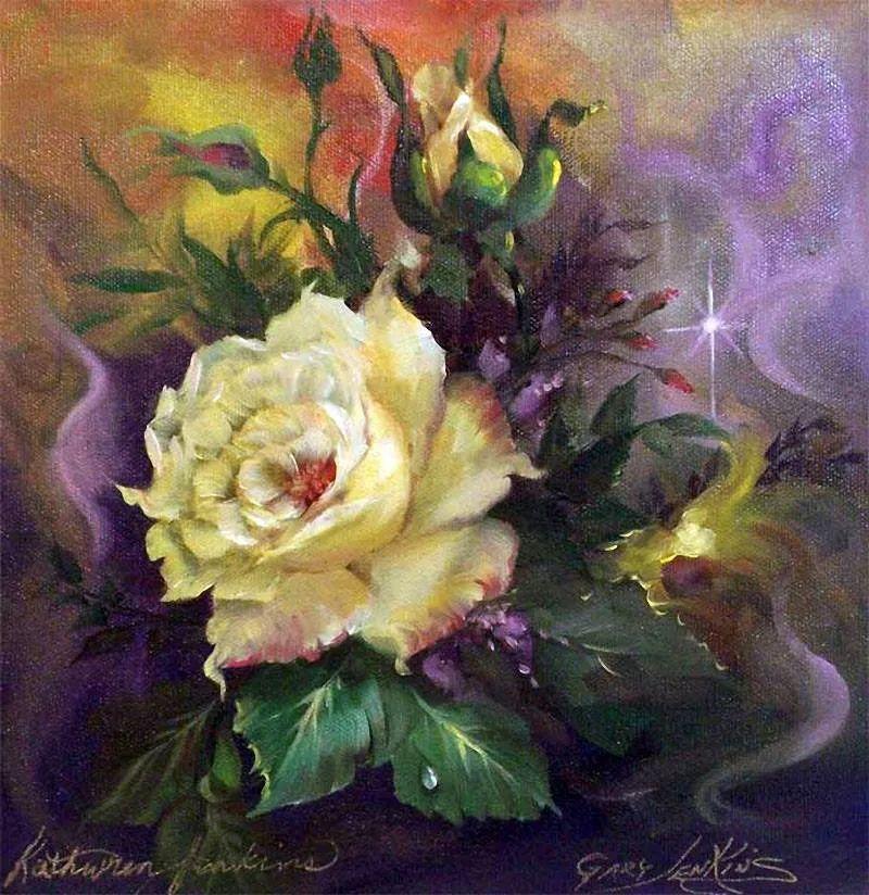 这对老夫妇教授绘画40多年,画的花也太漂亮了!插图27