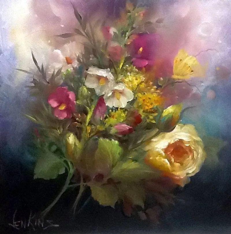 这对老夫妇教授绘画40多年,画的花也太漂亮了!插图28