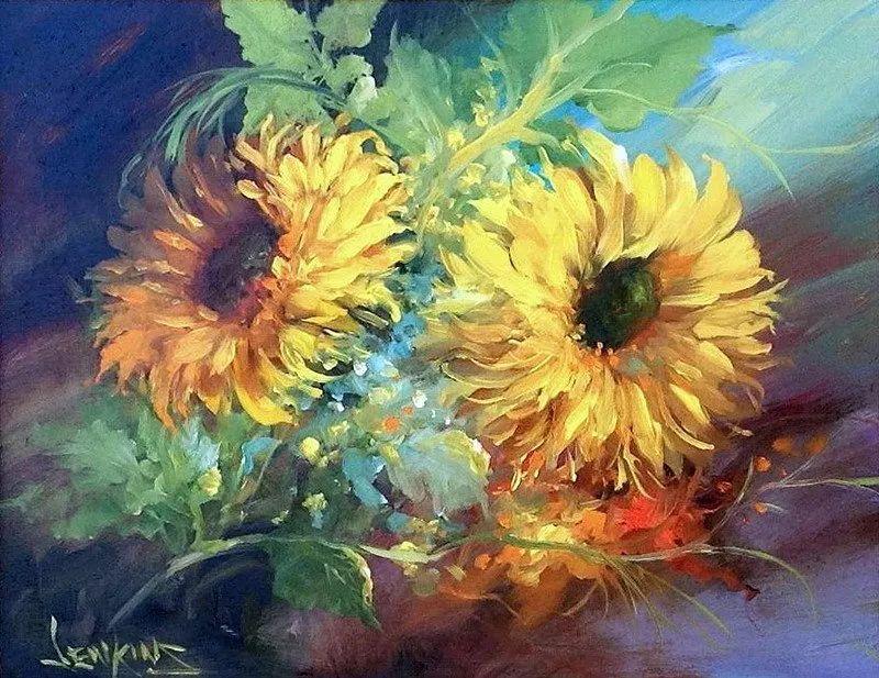 这对老夫妇教授绘画40多年,画的花也太漂亮了!插图29