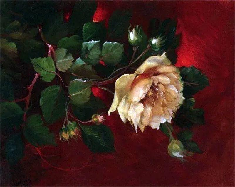 这对老夫妇教授绘画40多年,画的花也太漂亮了!插图31