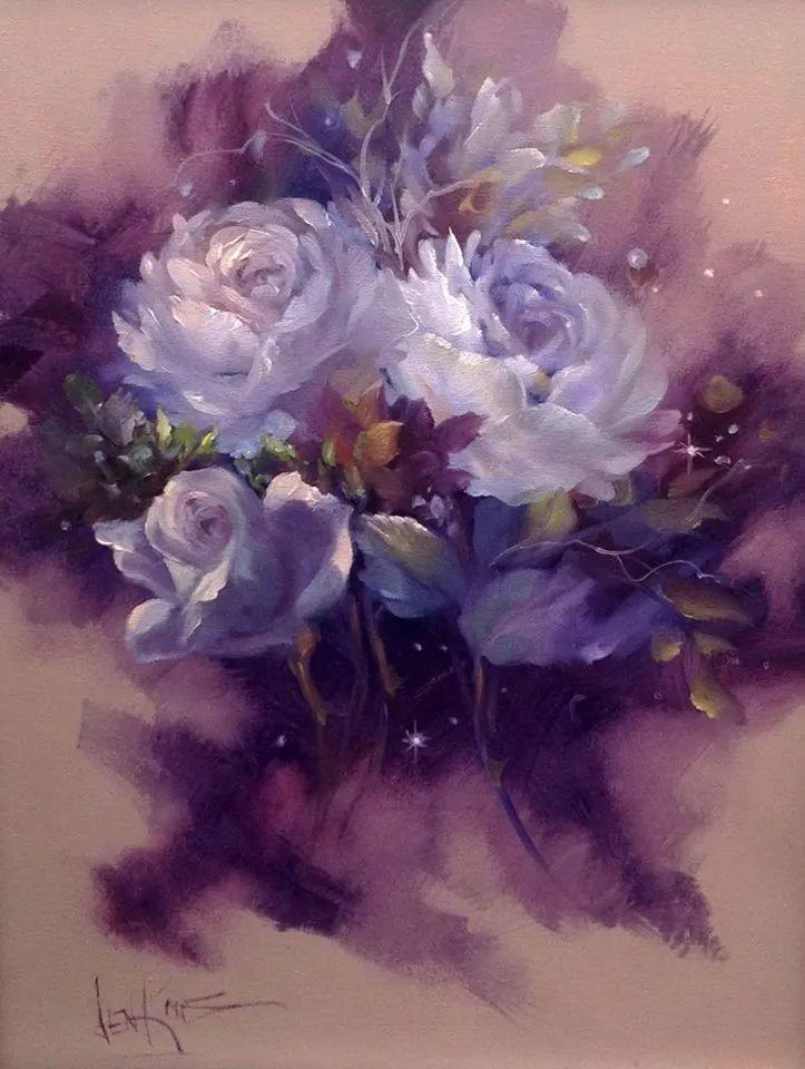 这对老夫妇教授绘画40多年,画的花也太漂亮了!插图32