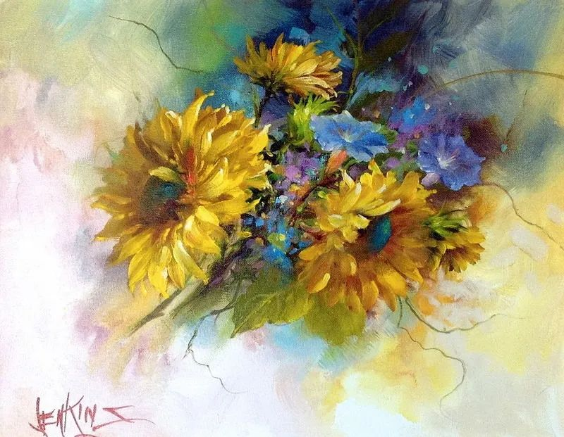 这对老夫妇教授绘画40多年,画的花也太漂亮了!插图33