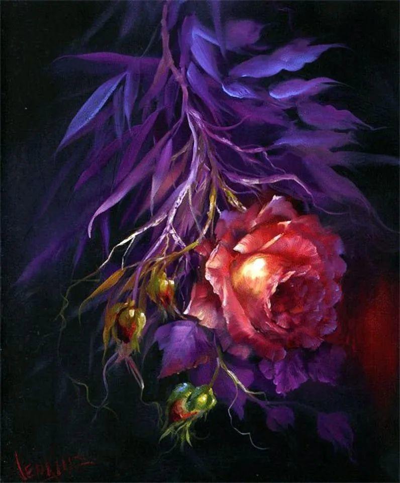 这对老夫妇教授绘画40多年,画的花也太漂亮了!插图34