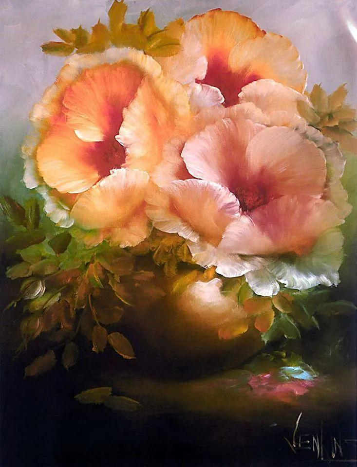 这对老夫妇教授绘画40多年,画的花也太漂亮了!插图35