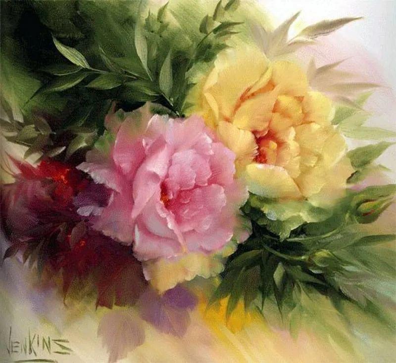 这对老夫妇教授绘画40多年,画的花也太漂亮了!插图36