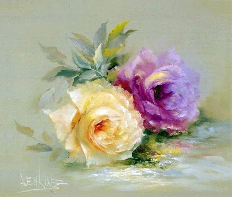 这对老夫妇教授绘画40多年,画的花也太漂亮了!插图37