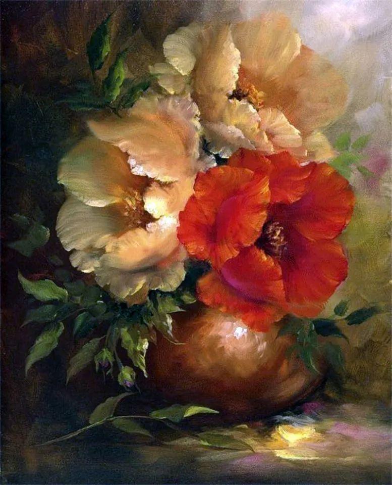 这对老夫妇教授绘画40多年,画的花也太漂亮了!插图38