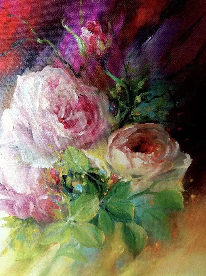 这对老夫妇教授绘画40多年,画的花也太漂亮了!插图39