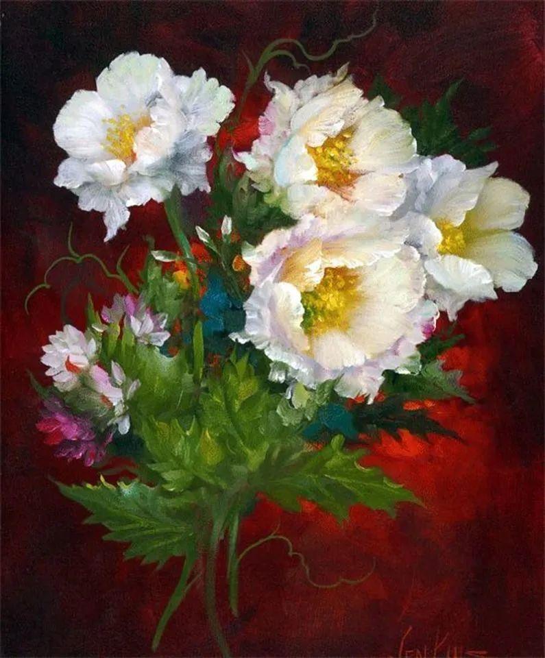 这对老夫妇教授绘画40多年,画的花也太漂亮了!插图40