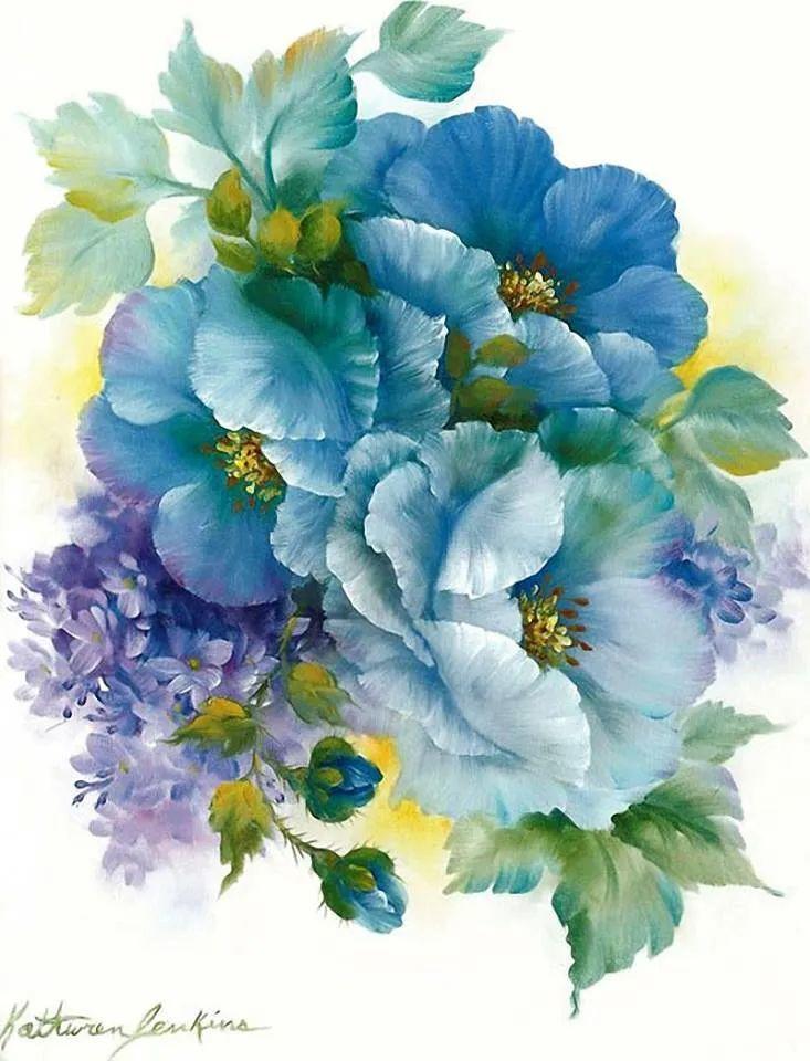 这对老夫妇教授绘画40多年,画的花也太漂亮了!插图41