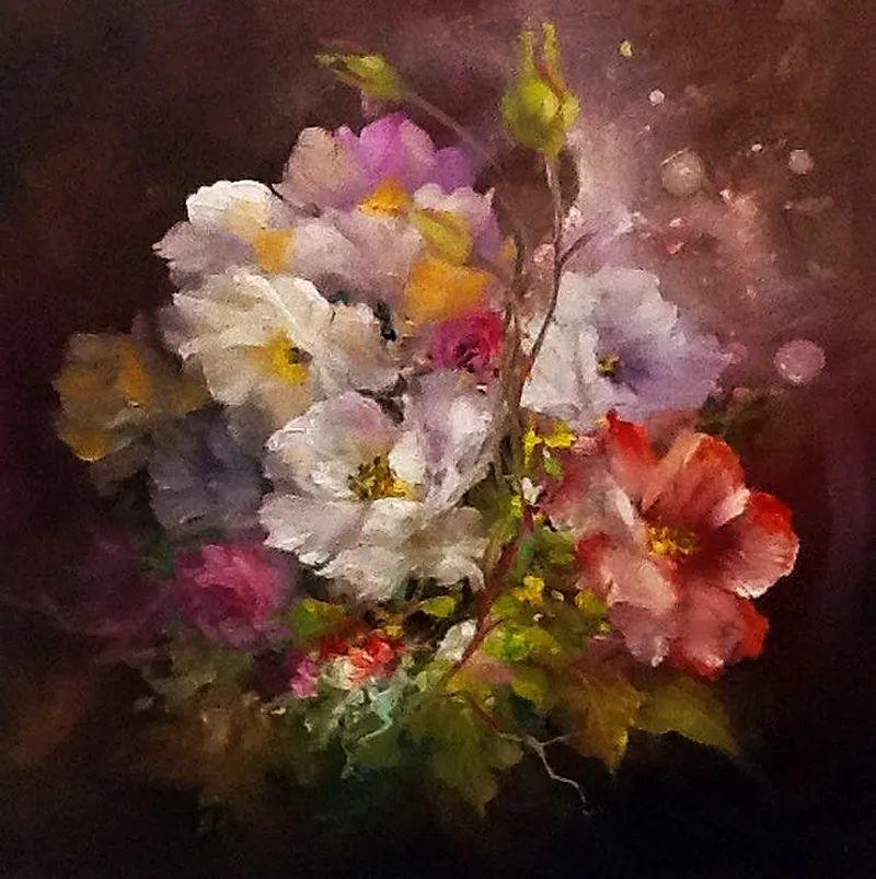 这对老夫妇教授绘画40多年,画的花也太漂亮了!插图42