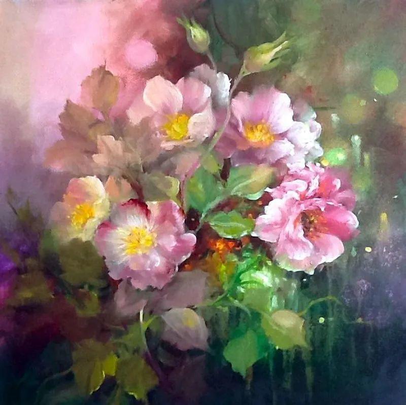 这对老夫妇教授绘画40多年,画的花也太漂亮了!插图43