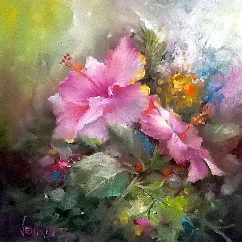 这对老夫妇教授绘画40多年,画的花也太漂亮了!插图44