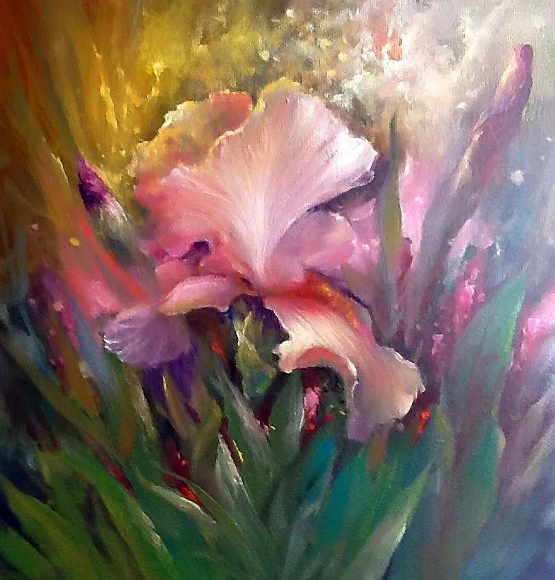 这对老夫妇教授绘画40多年,画的花也太漂亮了!插图45
