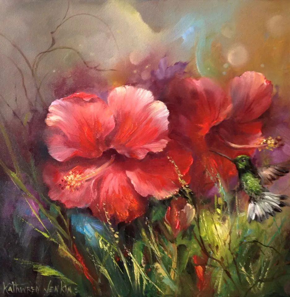 这对老夫妇教授绘画40多年,画的花也太漂亮了!插图46